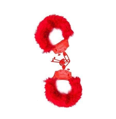 Algemas de pelúcia- preta e vermelha  - Foto 3