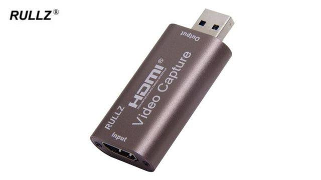Placa de captura de vídeo HDMI para USB (Para fazer Lives) - Foto 3