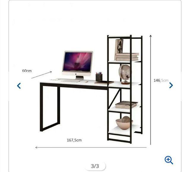 Mesa com estante  - Foto 4