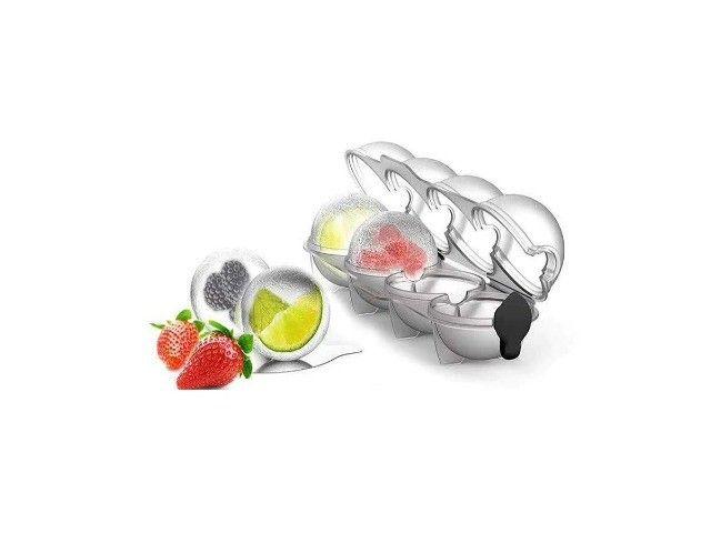 Forma De Fazer Gelo Redondo Com Frutas Para Coquetéis - Foto 2