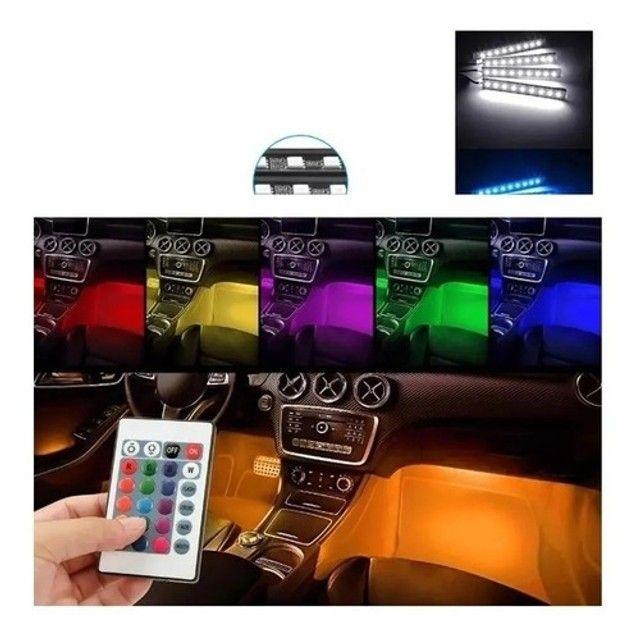 """""""Voltamos Loja já aberta"""" Personalize o interior do seu veículo - Rgb 7 Cores Com Controle - Foto 6"""
