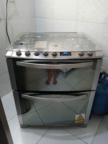 Fogão Electrolux inox 5 bocas 2 fornos modelo TOP DE LINHA - Foto 3