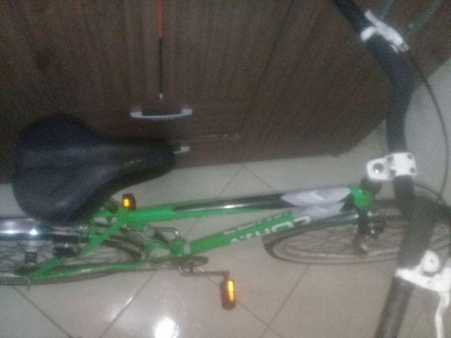 Bicicleta peças novas montei mais precisarei vender pouco usada , em perfeito estado! - Foto 5