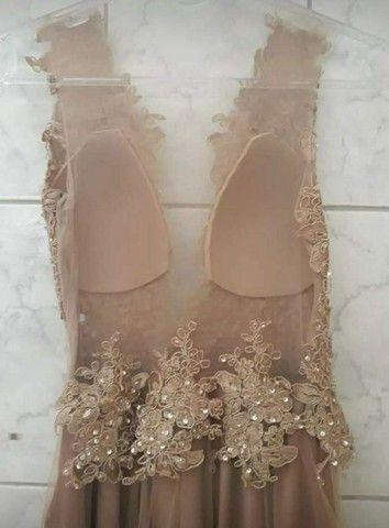 Vendo vestido na cor Nude - Foto 6