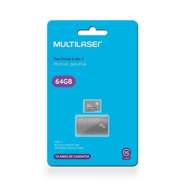 Cartão De Memória Micro Sd 64gb Classe 10 Alta Velocidade Pen Drive Adaptador Usb - Foto 2