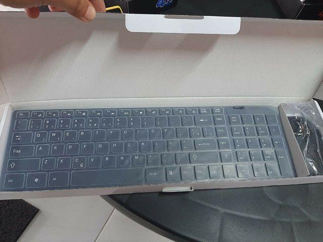 Teclado Wireless com Mouse - Foto 3