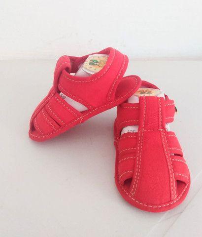 Sapatinhos para bebê/sandálias linha baby - Foto 5