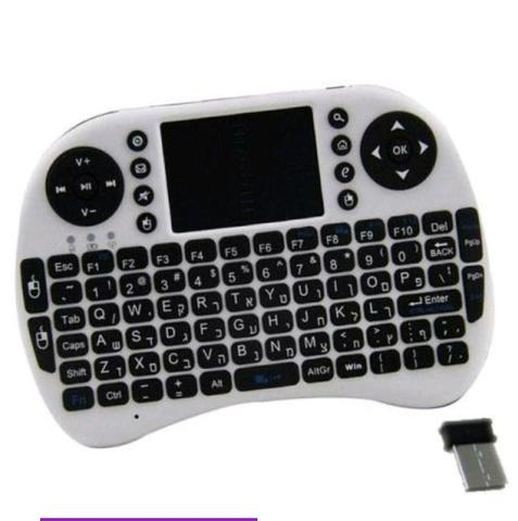 Mini Teclado Sem Fio Com Touchpad Mouse Ideal Para Smart Tv Pc Notebook