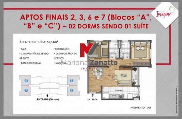 Residencial Imagine - Apartamento em Lançamentos no bairro Lagoa Seca - Santa Bá... - Foto 13