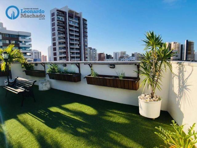 Apartamento Cobertura com 4 dormitórios à venda, 346 m² por R$ 2.500.000 - Meireles - Fort - Foto 2