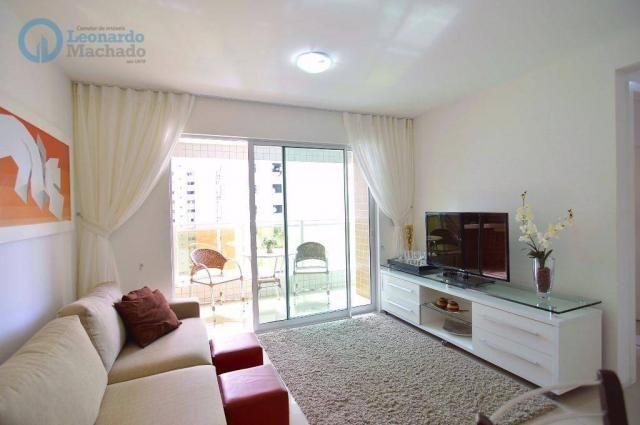 Apartamento com 2 dormitórios à venda, 70 m² por R$ 410.000,00 - Guararapes - Fortaleza/CE - Foto 3
