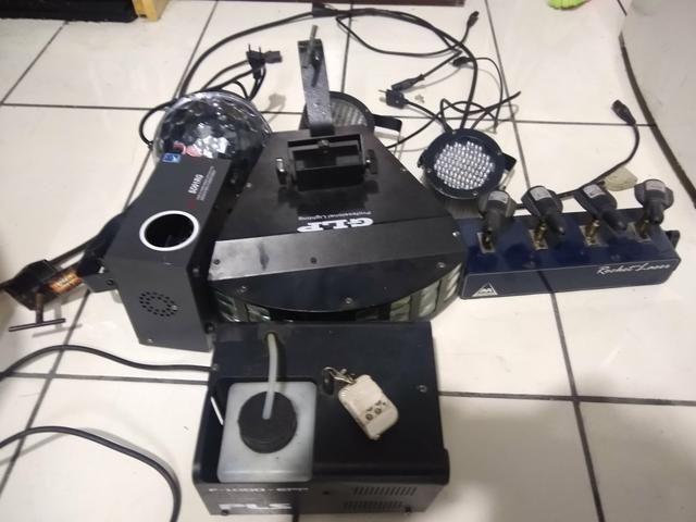 Kit de luz e fumaça para DJ - Foto 2