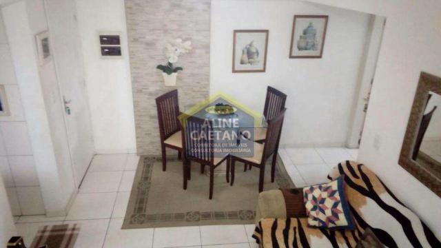 Apartamento à venda com 1 dormitórios em Guilhermina, Praia grande cod:AC927