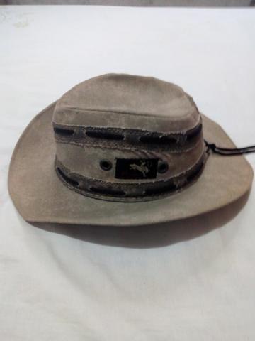Vendo um Chapéu Cowboy de Couro simples cor cinza (veja descrição) - Foto 3