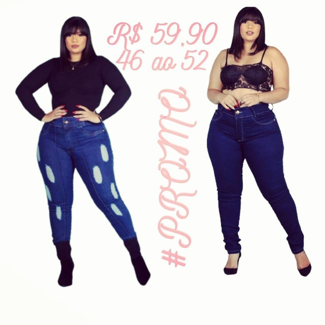 Calça jeans plus size com Lycra 46 ao 52