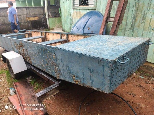 Barco carreta 4 mil barco de chapa de onibus - Foto 2