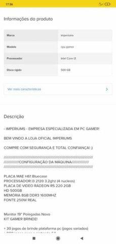 PC gamer novo de mostruário - Foto 4