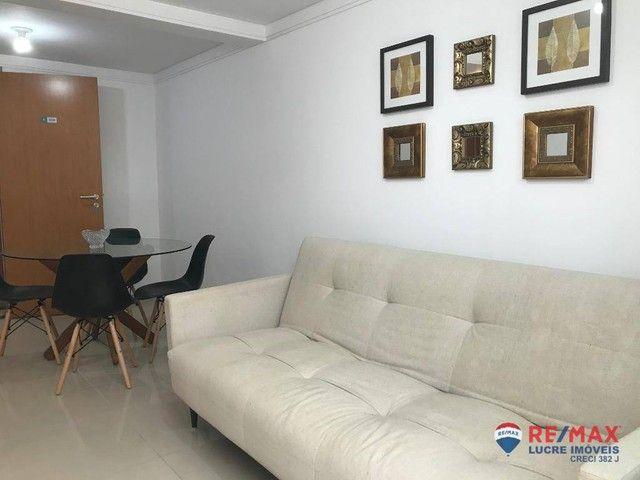 Apartamento com 1 dormitório para alugar, 39 m² por R$ 1.900,00/mês - Cabo Branco - João P - Foto 8