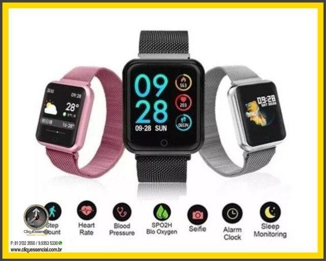 Relógio Inteligente SmartWatch P70 Android e Ios - Foto 2