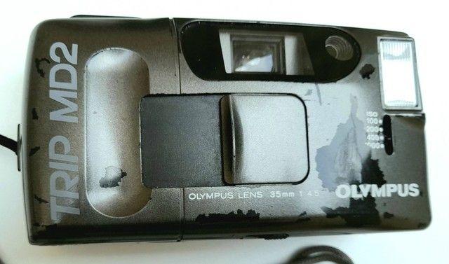 Câmera Fotográfica Olympus Trip MD2 Analógica! - Foto 2