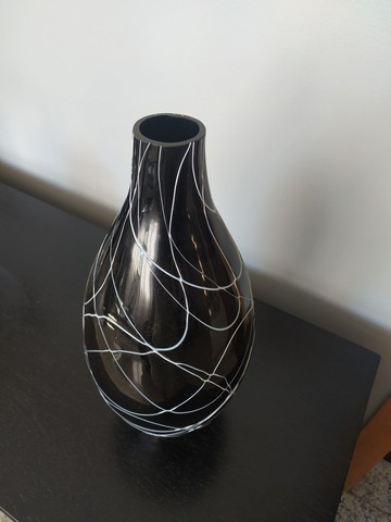 Vaso decorativo Preto e Branco