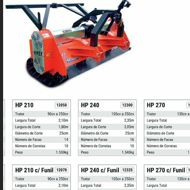 Triturador Florestal HP 210 (2018)