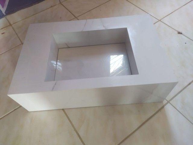 Pia de cerâmica para banheiro no ponto de estação..valor 450 reais conta: * - Foto 3