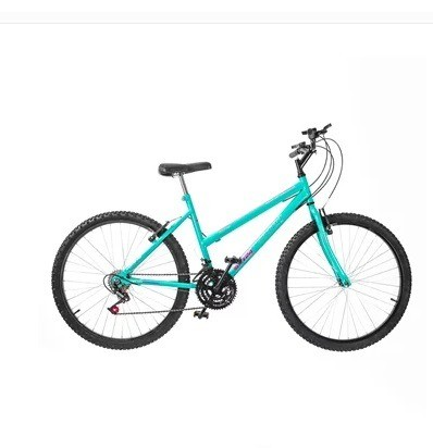 Bicicleta aro 26 bike 18 marchas monocolor feminina ultra Verde Anis