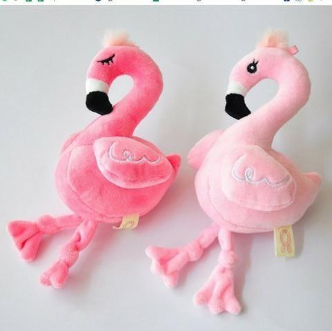 Chaveiro Flamingo Miniatura Pelúcia Pássaro Meninas Jardim - Foto 2