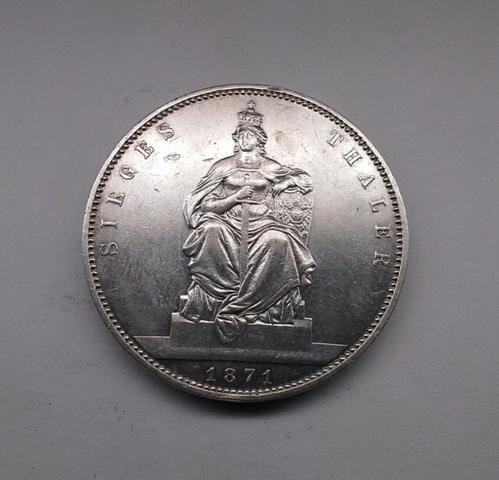 Moeda 1 Thaler 1871 - Foto 2