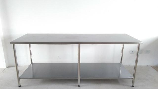 Mesa E Bancada Industrial 100% Inox 1,40x0,60 - Foto 3