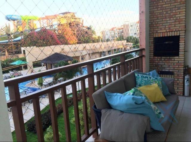 Apartamento wellness beach park resort , com 4 dormitórios à venda, 135 m² por R$ 950.000  - Foto 4