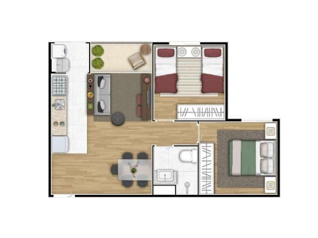 Código MA24 = Apartamento 50M² 2 dorms, varanda, 1 vaga. Vista Alegre II - Foto 7