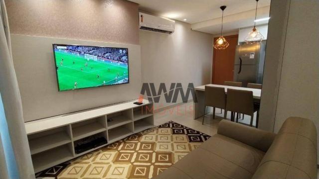 Apartamento com 1 dormitório para alugar, 42 m² por R$ 2.000,00/mês - Setor Oeste - Goiâni