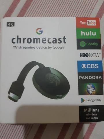 Chromecast na caixa nunca usado
