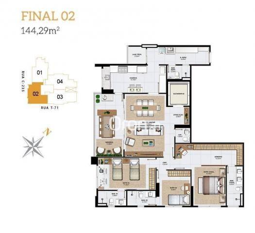 Apartamento com 3 dormitórios à venda, 144 m² por R$ 852.000,00 - Setor Bueno - Goiânia/GO - Foto 14