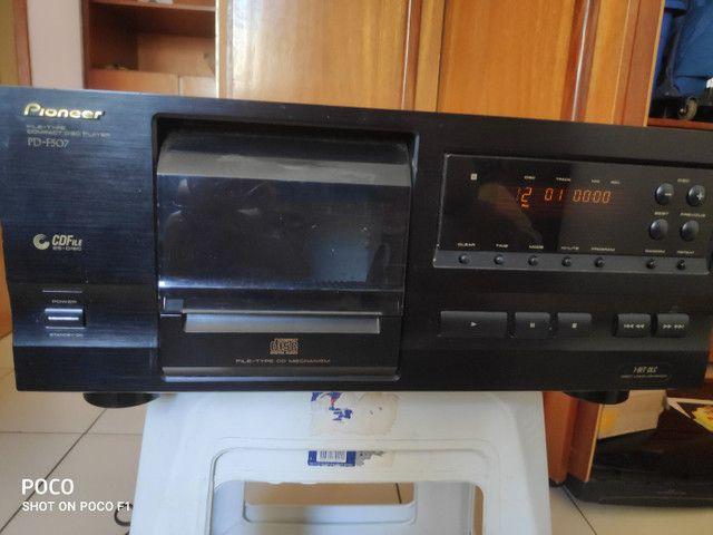 Tocador CD Pioneer Carrossel CD's 25 cd's Toca CD