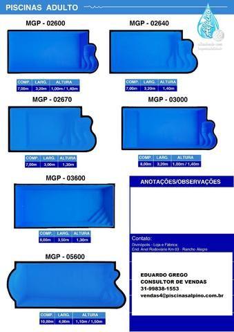 ED Promoção Piscina de Fibra 600x3,00x1,30 - Foto 5