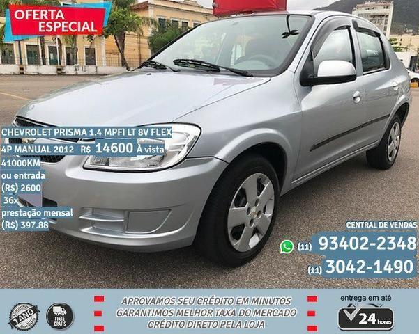 Prata Chevrolet Prisma 1.4 mpfi LT 8V Flex 4P Manual 2012 R$ 14600 41000KM