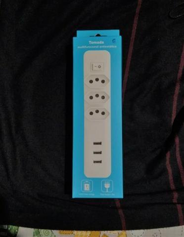 Extensão antiestática com saída USB com carga rápida
