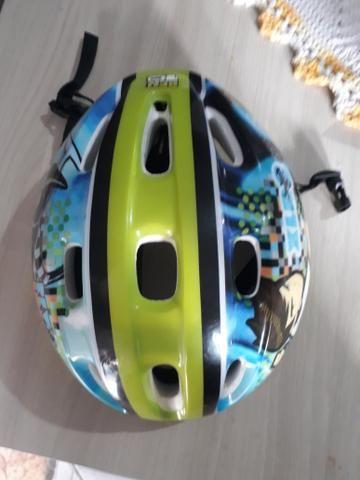 Vendo capacete infantil bicicleta - Foto 2