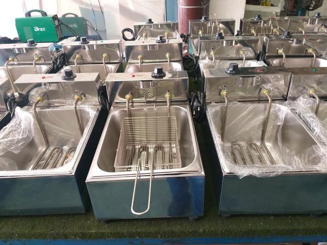 Fritadeira elétrica 5 litros 1 cuba (com garantia) - Foto 2