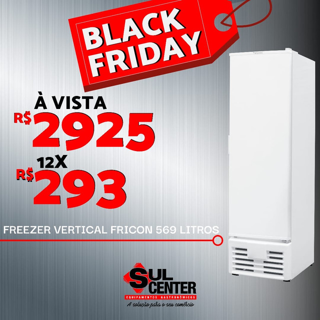 Freezer vertical 569 lts Fricon novo - * Géssica