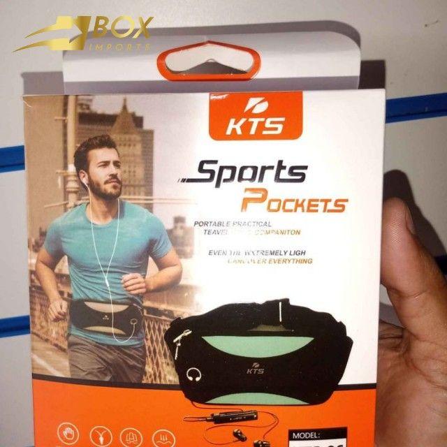 Pochete sports pockets kts-07 pochete sport caminhada corrida academia impermeável - Foto 2