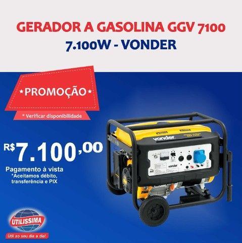 Gerador à Gasolina 7100W GGV 7100 110/220V Vonder ? Entrega grátis