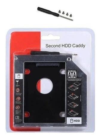 Case Adaptador Caddy Dvd HD Ssd 2.5 Sata Notebook - Entrega Grátis - Foto 5