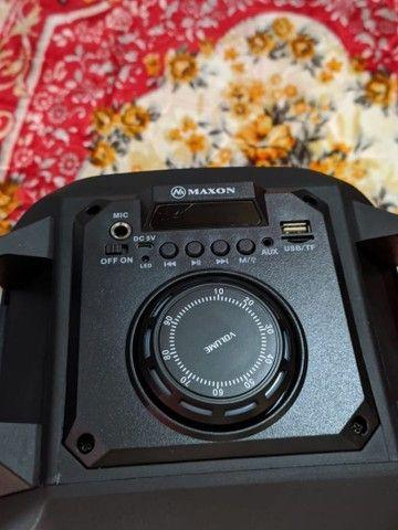 Caixa de som Bluetooth alta potência, com microfone, entrada USB, rádio FM - Foto 4