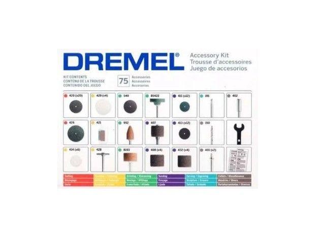 Kit de Acessórios para retifica uso geral com 75 peças 26150707AC Dremel - Foto 3