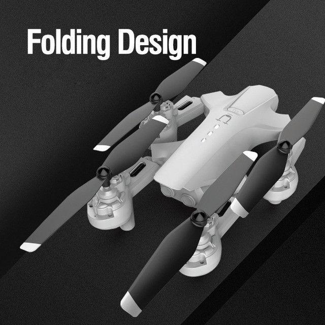 Drone Quadricóptero Rc Dobrável Com 4k Dual Hd Com Câmera Óptica Follow R$ 350,00 - Foto 5