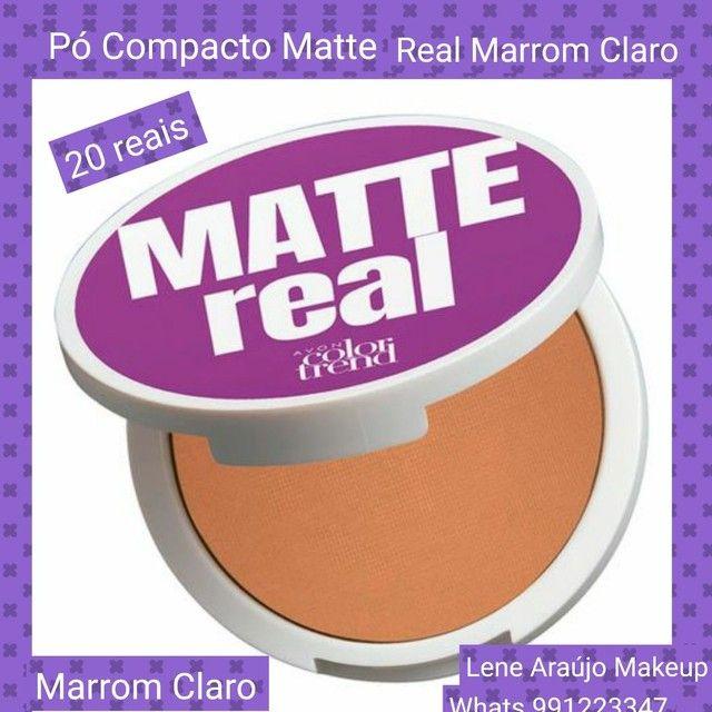 Pó Compacto Real Matte Marrom Claro